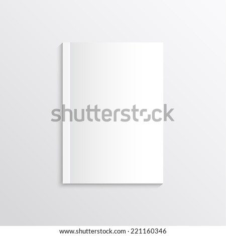 Blank sheet of paper, magazine covers, postcards. Corporate Identity. Isolate on white background. Layout for your design - stock photo