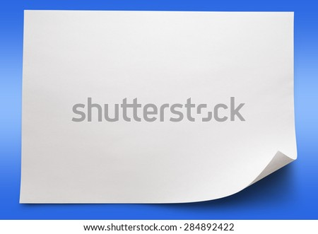 Blank sheet of paper on background closeup - stock photo