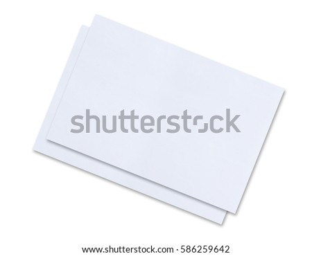 Blank sheet of paper on white background.