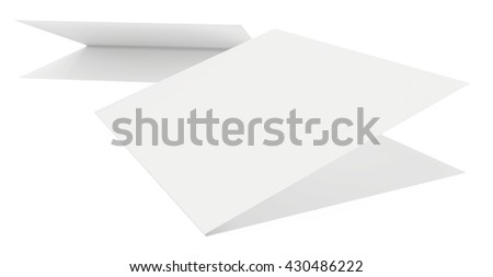 blank sheets of paper on a white background