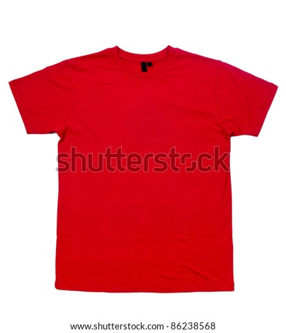 Blank shirt, blank background, keep the path - stock photo