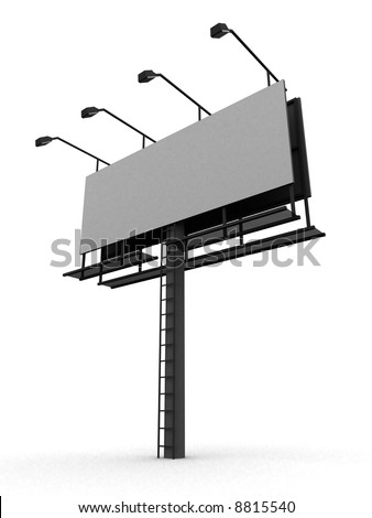 blank sign - stock photo