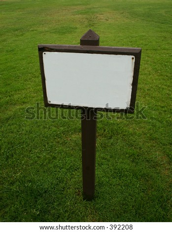 Blank sign - cropped - stock photo