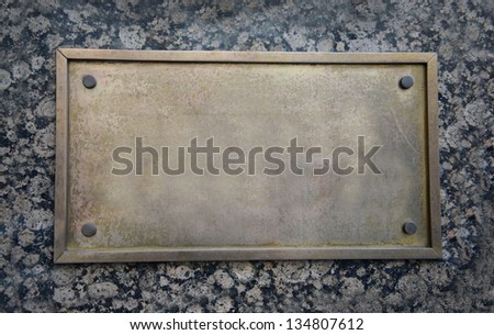 Blank sign on wall