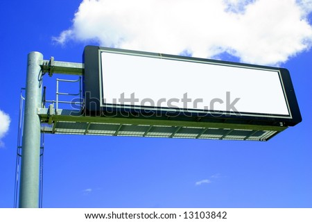 BLANK SIGN WITH CLIPPING PATH - stock photo