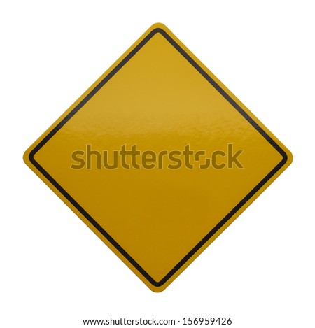 Blank Sign with Copy Space Isolated on White Background. - stock photo