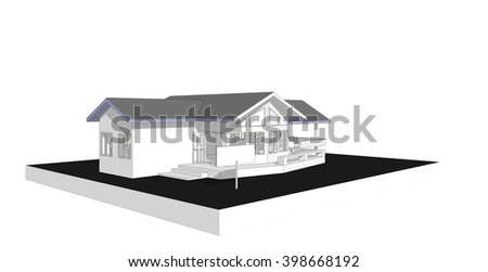 Blank sign new 3 d house model stock illustration 398668192 blank sign with new 3d house model generate by computer isolated background real estate concept ccuart Gallery