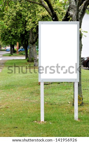 Blank Signboard for your advertisement or graphic design - stock photo
