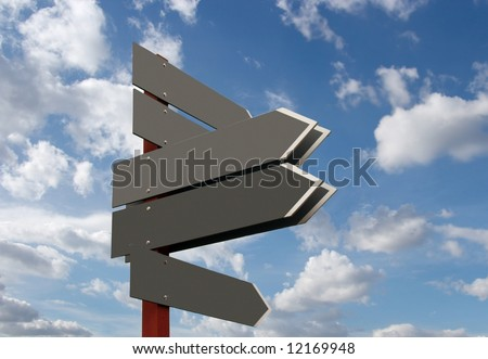Blank signpost. Add your own text - stock photo