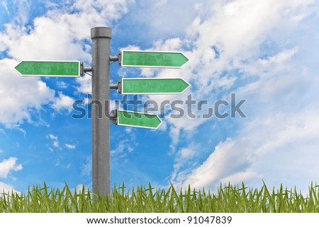 blank signs pointing - stock photo