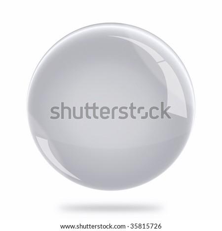 Blank Silver Sphere Float - stock photo