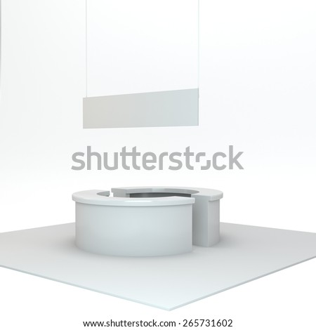 blank simple stall n exhibition or trade fair - stock photo