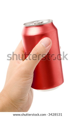 blank soda can with white background