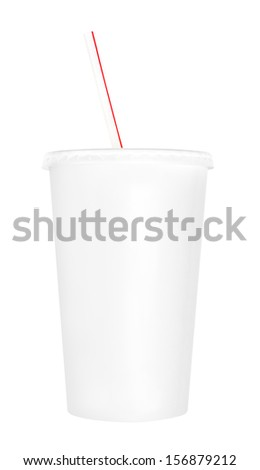 Blank soft drink cup - stock photo