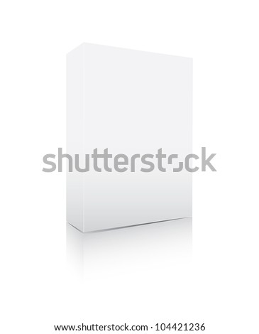 Blank software box isolated on white - stock photo
