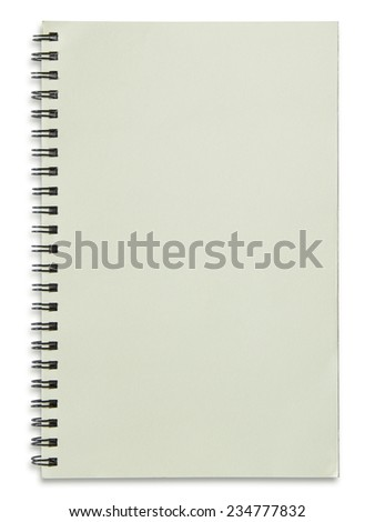 blank spiral notepad isolated on white background - stock photo