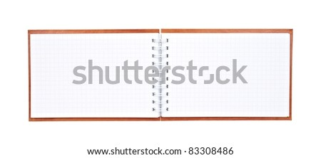 Blank spiral notepad isolated on white background
