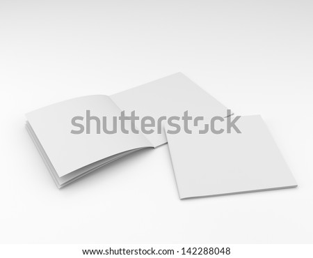 Blank Square Catalog Brochure Mock On Stockillustration 142288048 ...