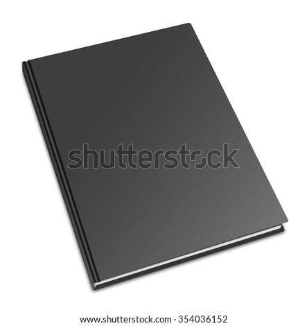 Blank square hardcover album template on white background