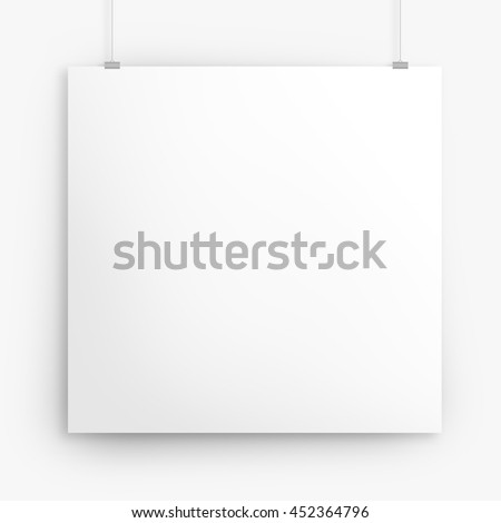 Blank square poster mock up