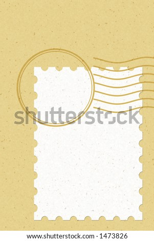 blank stamp Easy to use & Personalize it with your own style. - stock photo