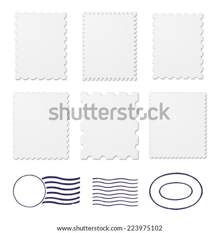 Blank stamps frames - stock photo