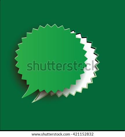 Blank sticker - stock photo