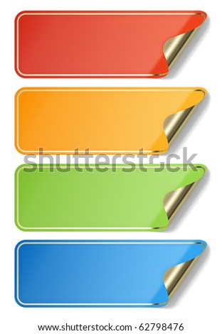 Blank stickers - stock photo