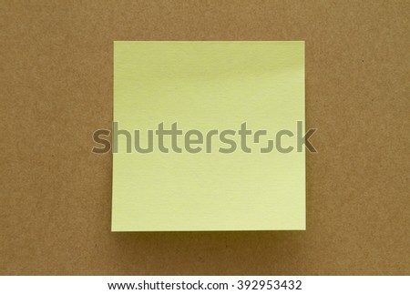 Blank Sticky Note. Write your message.  - stock photo