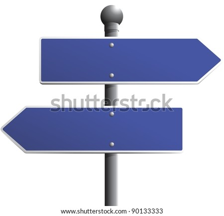 Blank street sign to place your own message on - stock photo