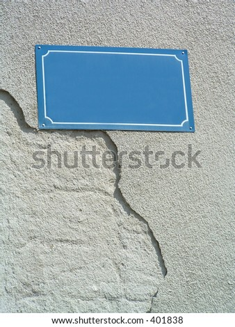 blank street sign to write your own  words - stock photo