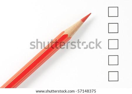Pen Checklist Vector Format Vector 41543467 Shutterstock – Blank Survey