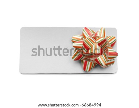 Blank tag isolated on white background - stock photo