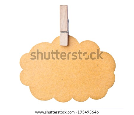 Blank tag isolated on white background, clipping path - stock photo