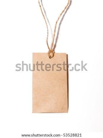 blank tag on white - stock photo