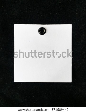 Blank tag tied on Black background for text.Price tag,gift tag,sale tag,address label? - stock photo
