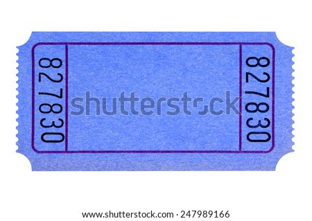 Raffle Ticket Stock Photos, Royalty-Free Images & Vectors ... Blank ticket : Blank blue movie or raffle ticket isolated on white background. Space for