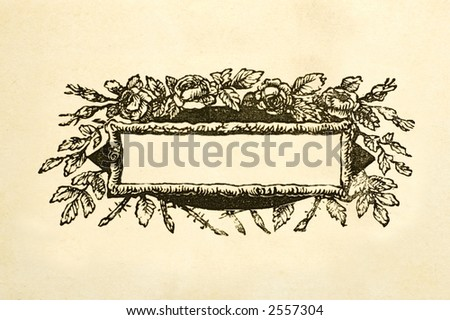 Blank title page from vintage victorian book - stock photo
