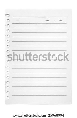 Blank torn page held waiting for your message. Add your own text or design. - stock photo