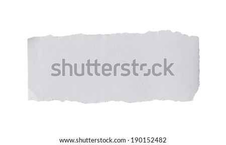 Blank torn paper - stock photo