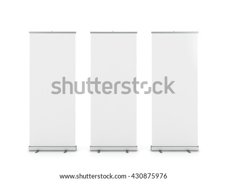 Blank trade show booth mock up. 3D illustration - stock photo