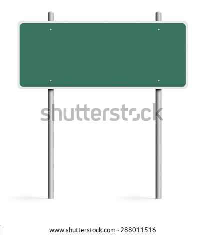Blank traffic sign - stock photo