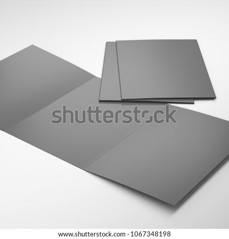 Blank Tri Fold A 4 A 5 Size Stock Illustration 1067348198 Shutterstock