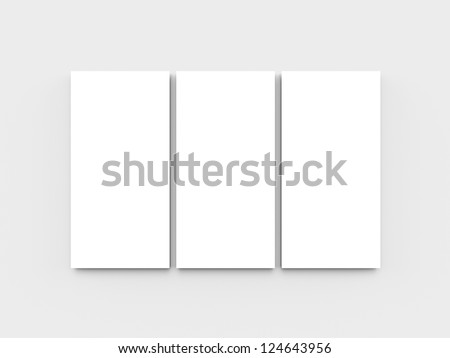 Blank triptych - stock photo