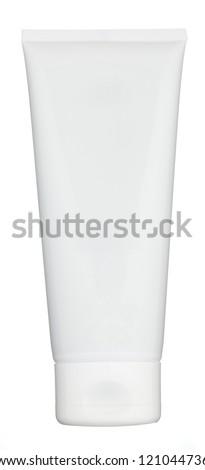 Blank tube isolated on white - stock photo
