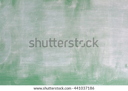Blank used green chalkboard background, blackboard texture after eraser clear the board with copy space - stock photo