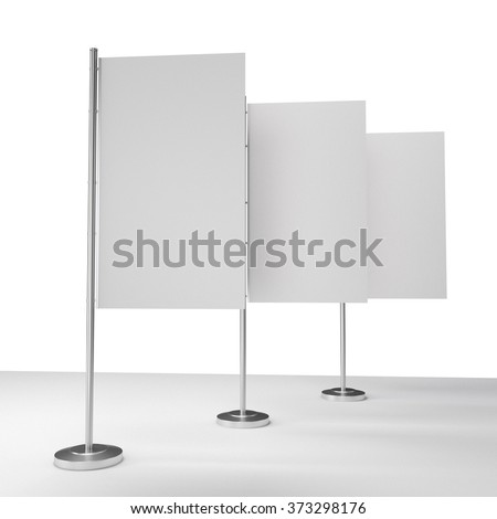 White Blank Table Flag Mockup Stock Illustration 515324734