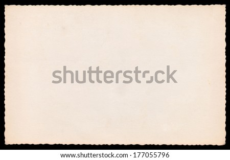 Blank very old photo - stock photo