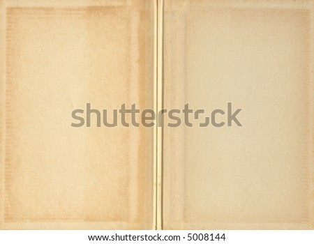 Blank Vintage Book Pages - stock photo