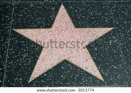Blank Walk of Fame Star - stock photo